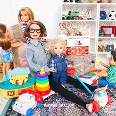 Grandma Barbie and Barbie Kids - Charo Rubertis Barbie Bebe, Midge Barbie Doll, Barbie Kids, Barbie Doll House, Barbie And Ken, Barbie Happy Family, Made To Move Barbie, Barbie Fashionista Dolls, Barbie Diorama