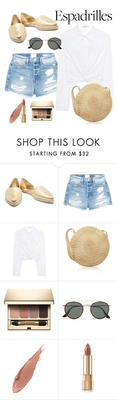 """""""Espadrille Gold"""" by alana-alford ❤ liked on Polyvore featuring Michael Kors, Frame, T By Alexander Wang, Clarins, Ray-Ban, Estée Lauder and Dolce&Gabbana"""