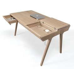 """Escritorio """"METIS is the latest piece to come from @wewood.portuguese. Designed by @goncalo.campos, the #desk is made of solid #wood with compartments and #workspace…"""""""