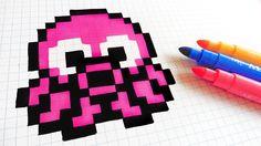 Handmade Pixel Art - How To Draw Kawaii Octopus #pixelart