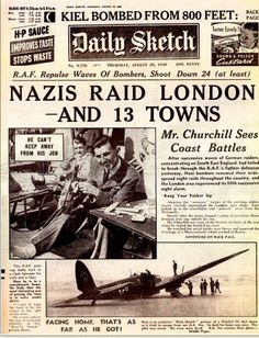 The Blitz - Replica Newspaper (Resources for Teaching - World War Newspaper Front Pages, Vintage Newspaper, Newspaper Article, Modern History, British History, American History, Front Page News, Newspaper Headlines, The Blitz