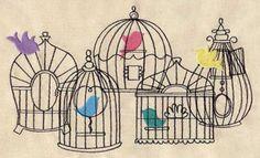 Beautiful Birdcages design (UT4443) from UrbanThreads.com