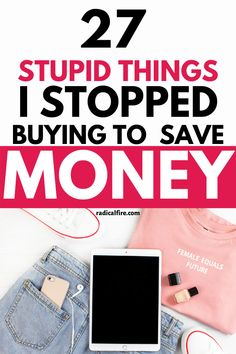 How many times have you told yourself not to buy things that are not necessary? How many set backs it takes before you can stopped yourself from the temptation? The thought of not buying things in order to save money seems pretty obvious, right? However, there are a lot of things we can buy on the regular without thinking twice about it. And while these items might only be a small amount of your budget, over time they can really add up! Here are the 27 things I stopped buying to save money. Save Money On Groceries, Ways To Save Money, Money Tips, Money Saving Tips, Budgeting Finances, Budgeting Tips, Wealth Management, Money Management, Financial Planning For Couples
