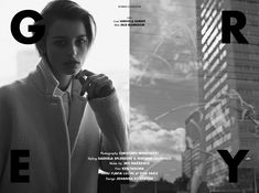 Stories Collective / Grey / Photography Christoph Wohlfahrt / Styling Gabriela Splendore & Mariana Lourenço / Make up Mie Nakazato / Hair Ken Tanuma /  Model Flavia Lucini at Viva Paris / Design Johanna Bonnevier #simplicity #storiescollective #fashion #editorial #minimalism #paris