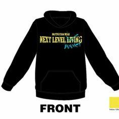 Next level addict black/yellow/teal hoodie