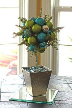 Southern Scraps : DIY ornament topiary