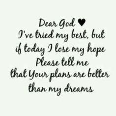 Gods Plans > my dreams. On my heart soooooo bad right now
