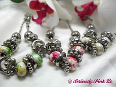 Charm-like bracelet with color stained glass beads...$1.00 at Seriously Pink