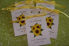 SALE Personalized Sunflower Wedding Favor Flower by SuLuGifts, $21.00