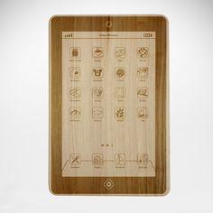 Frühstück? Da haben wir 'ne App für! Für alle Tablet-Fanatiker und App-Begeisterte ist unser FrühstücksPad - graviertes Brett im Tablet-Design genau das richtige.