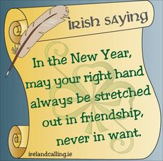 irish new years wish
