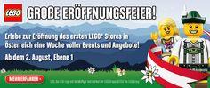 Oesterreich bekommt einen #Lego-Shop! Ab morgen, Sa. (3.8.2013), Eroeffnungswoche des 1. Lego-Shops in Oesterreich (= der 103. weltweit) in der Shopping City Sued #SCS.  Ob's diese #DeLorean time machine < http://shop.lego.com/en-US/The-DeLorean-time-machine-21103?p=21103 > dort wohl auch geben wird?