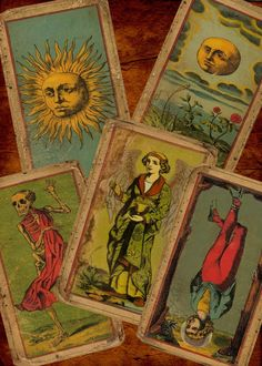 SALE on TAROT:  The Deck Of The Bastard - The Most Unique Vintage (looking) Tarot Deck You Will Ever Find (Now on Premium Cardstock). $56.00, via Etsy.