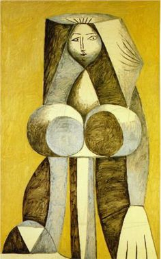 Standing woman, Pablo Picasso Size: cm Medium: oil on canvas Art Picasso, Picasso Drawing, Picasso Paintings, Cubist Portraits, Picasso Portraits, Georges Braque, Henri Matisse, Art Plastique, Malaga