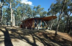 The Trunk House - A modern cabin in the forest in The Central Highlands of Victoria, Australia.
