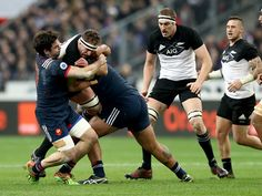 All Blacks secure a win over a France who produce some great rugby against the Champions! All Blacks, Rugby Players, Victorious, Champion, Soccer, Running, Sports, People, France