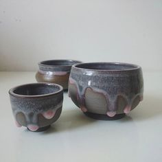 #stoneware #pastel #glaze #pottery #ceramics #teabowls #pots #teaaddict #keramik