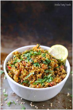 Sreelus Tasty Travels: Masala Oats Upma ~ Curried Oats ~ Protein Packed