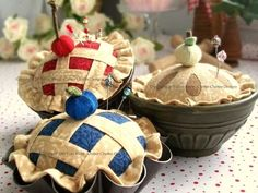 Sweet as Pie Pincushions pattern $6.00 on Chitter Chatter Designs at http://www.chitterchatterdesigns.com/patterns.html