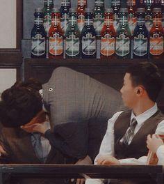 Sehun and Junmyeon gif -> why? Sehun I see you 👀 Suho Exo, Exo Ot12, Kpop Exo, Kaisoo, Chanbaek, Exo Ships, F4 Boys Over Flowers, Exo Couple, Kpop Memes