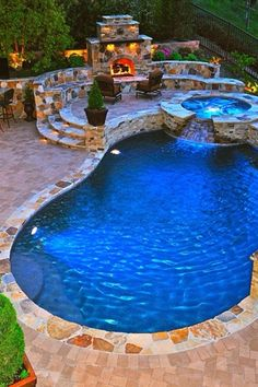 """Traditional Swimming Pool with exterior stone floors, Raised beds, Home loft concept molino 29.5"""" bar stool with cushions"""