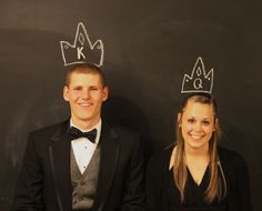 Prom chalkboard photobooth
