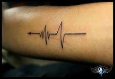 Superior Beat Tattoo Amazing Heartbeat Tattoo Designs You Should Name Tattoos On Wrist, Mom Tattoos, Line Tattoos, Trendy Tattoos, Tattoos For Guys, Tatoos, Tattoos Skull, Arrow Tattoos, Feather Tattoos