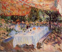 """Luncheon under the Canopy""  Claude Monet"
