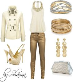 """gold"" by shauna-rogers on Polyvore"