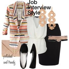 You can be fashionable and professional at the same time! #JobInterviewFashion