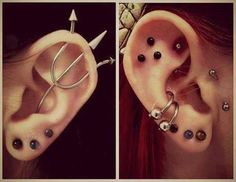 Ear piercings. That trident earring is badass!