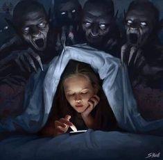 Dark Fantasy Art, Art Sombre, Art Sinistre, Images Terrifiantes, Creepy Paintings, Face Paintings, Dark Artwork, Arte Obscura, Applis Photo