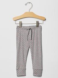 Dot banded pants