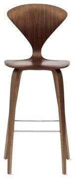 Cherner Counter Stool, Walnut - modern - bar stools and counter stools - Design Within Reach