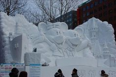 snow sculptures | Fun Crawler: Pretty Incredible Snow Sculptures
