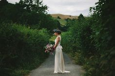 A 1960′s Inspired Gown And Pretty Flower Crown For A Home Garden, Vintage Style Wedding | Love My Dress® UK Wedding Blog