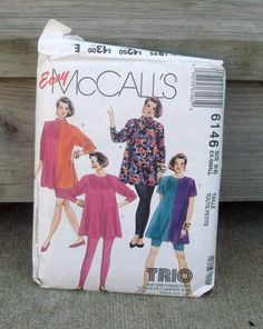 1992 Used Vintage McCalls Pattern 6146 by lovelylovedesigns, $4.00