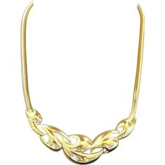 1/2 Price 72 hours only, starts Wed. 1/21 8AM PST: Trifari Kunio Matsumoto Modernist Gold Plated Choker Necklace.  PREVIEW ALL SALE ITEMS NOW.