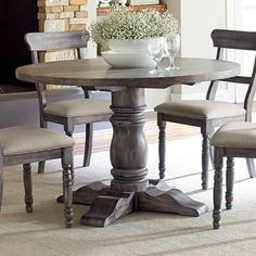 Progressive Furniture Muses Round Dining Table in Dove Grey - Walmart.com