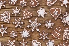 Photo about Gingerbread reindeer cookies and christmas decoration. Image of delicious, noel, christmas - 35316977 Reindeer Biscuits, Reindeer Cookies, Snowflake Cookies, Cute Cookies, Holiday Cookies, Holiday Treats, Gingerbread Reindeer, Gingerbread Decorations, Christmas Decorations