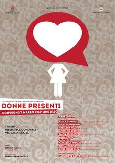 """Manifesto evento """"Donne Presenti"""""""
