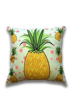 Yellow Pineapple Throw Pillow