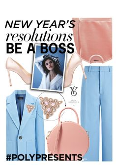 """#PolyPresents: New Year's Resolutions: BE A BOSS Yulia Logvinova Jewelry"" by trinirockstarr ❤ liked on Polyvore featuring Joseph, Maje, Mansur Gavriel, Jimmy Choo, AB A Brand Apart, Pink, colorful, contestentry, polyvorecontest and polyPresents"