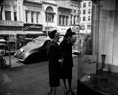 Fancy Ladies at Pickett's Dept Store across from Hardie and Caudel Clothing - Chattanooga, 1950s https://www.facebook.com/picnooga/photos/a.276224652534219.1073741828.275826695907348/434955679994448/?type=1