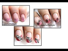 Pink Flirty Tips ❤ Valentine's Day !! Nails For Valentine's Day Nail Art...