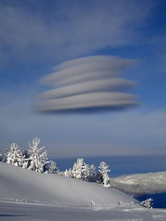 I've seen clouds similar to this form over a mountain, but not 'in the middle of nowhere,' so to speak.