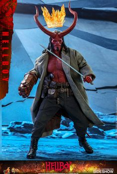 """Hellboy Hot Toys Sixth Scale Figure is now for Pre-Order on Sideshow! """"Hellboy is caught between the worlds of the supernatural and human. Hellboy 1, Hellboy Movie, Horns Movie, Dark Horse Comics, In Cinemas Now, Nightmare Before Christmas Halloween, Funny Iphone Wallpaper, Falling Kingdoms, Sideshow Collectibles"""