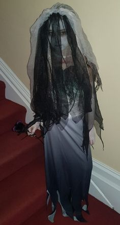 And finally today's inspiration comes to you from Tim Burton's Corpse Bride - this is how my daughter left for school ; Tim Burton Corpse Bride, Piece Of Cakes, Pumpkin Decorating, Fundraising, To My Daughter, Ballet Skirt, Halloween, School, Inspiration