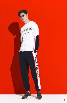 Iceberg Spring 2018 Menswear Fashion Show Collection New Mens Fashion, Fall Fashion Outfits, Autumn Fashion, Casual Outfits, Vogue Paris, Man Dressing Style, Pantalon Slim, Interview, Vogue Russia