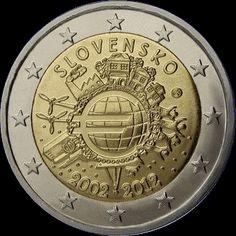 2€ Eslovaquia 2012 -10 años Euro-